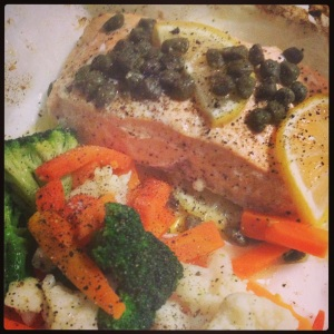 Lemon Caper Salmon Parcel